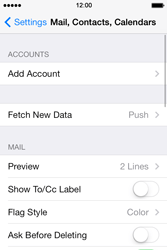 Apple iPhone 4 S iOS 7 - E-mail - Manual configuration - Step 5