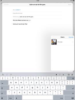 Apple iPad Pro 12.9 - iOS 11 - E-mail - Bericht met attachment versturen - Stap 9