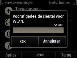 Nokia E6-00 - Wifi - handmatig instellen - Stap 10