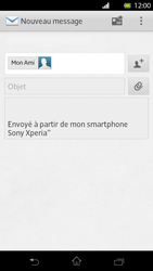 Sony LT30p Xperia T - E-mail - Envoi d