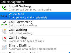 BlackBerry 9900 Bold Touch - Voicemail - Manual configuration - Step 5