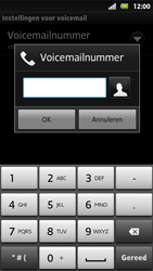Sony MT27i Xperia Sola - Voicemail - Handmatig instellen - Stap 7