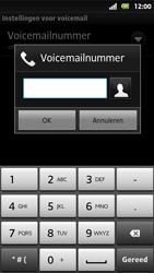 Sony MT27i Xperia Sola - Voicemail - Handmatig instellen - Stap 7