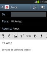 Samsung Galaxy S3 Mini - E-mail - Escribir y enviar un correo electrónico - Paso 10