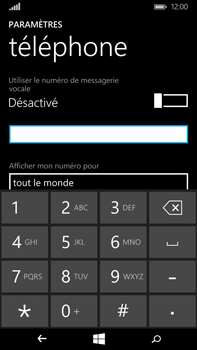 Microsoft Lumia 640 XL - Messagerie vocale - Configuration manuelle - Étape 8