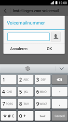 Huawei Ascend Y530 - Voicemail - handmatig instellen - Stap 8