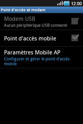 Samsung Galaxy Ace - Internet et connexion - Partager votre connexion en Wi-Fi - Étape 6