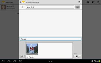 Samsung N8000 Galaxy Note 10-1 - MMS - envoi d'images - Étape 16