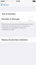 Apple iPhone SE - Aller plus loin - Désactiver les données à l'étranger - Étape 6
