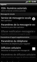HTC A7272 Desire Z - Messagerie vocale - configuration manuelle - Étape 6