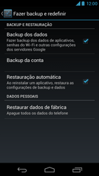 Motorola Moto X - Funções básicas - Como restaurar as configurações originais do seu aparelho - Etapa 5