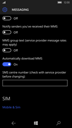 Microsoft Lumia 950 - SMS - Manual configuration - Step 6