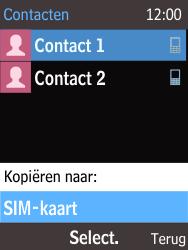 Nokia 220 - Contacten en data - Contacten kopiëren van toestel naar SIM - Stap 7