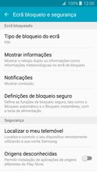 Samsung Galaxy J3 (2016) - Segurança - Como ativar o código de bloqueio do ecrã -  12