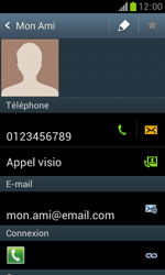 Samsung Galaxy Trend - Contact, Appels, SMS/MMS - Ajouter un contact - Étape 13