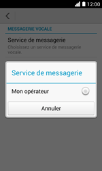 Huawei Ascend Y330 - Messagerie vocale - configuration manuelle - Étape 8