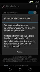 Sony Xperia L - Internet - Ver uso de datos - Paso 9