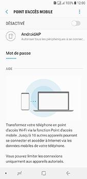 Samsung Galaxy J6 - Internet et connexion - Partager votre connexion en Wi-Fi - Étape 11