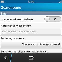 BlackBerry Q10 - SMS - handmatig instellen - Stap 7