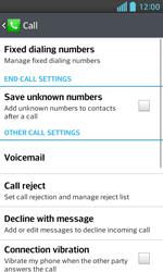 LG E460 Optimus L5 II - Voicemail - Manual configuration - Step 5
