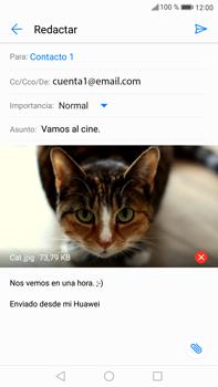 Huawei Mate 9 - E-mail - Escribir y enviar un correo electrónico - Paso 15