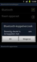 Samsung I8530 Galaxy Beam - Bluetooth - koppelen met ander apparaat - Stap 10
