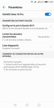 Huawei Mate 10 Pro - Internet et connexion - Partager votre connexion en Wi-Fi - Étape 10