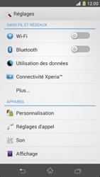 Sony D5503 Xperia Z1 Compact - Wifi - configuration manuelle - Étape 3