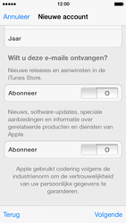 Apple iPhone 5 met iOS 7 - Applicaties - Account aanmaken - Stap 15