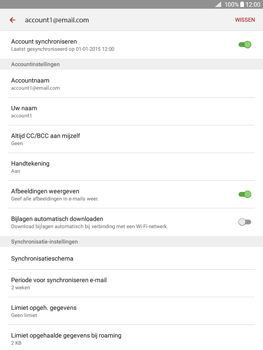 Samsung Galaxy Tab A 9.7 (SM-T555) - E-mail - Instellingen KPNMail controleren - Stap 25