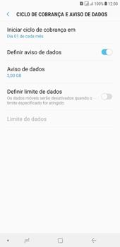 Samsung J4+ - Rede móvel - Como definir um aviso e limite de uso de dados - Etapa 7