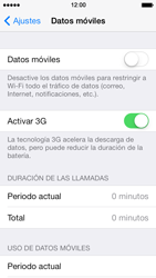 Apple iPhone 5s - Internet - Ver uso de datos - Paso 5
