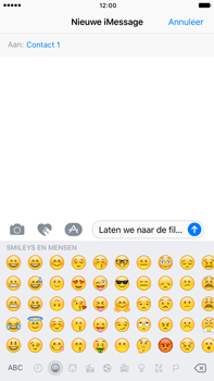 Apple Apple iPhone 6 Plus iOS 10 - iOS features - Stuur een iMessage - Stap 15