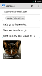 Acer Liquid Z410 - Email - Sending an email message - Step 15