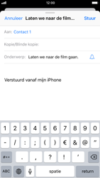 Apple iphone-6-met-ios-11-model-a1586 - E-mail - Hoe te versturen - Stap 7