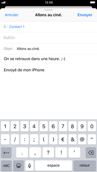 Apple iPhone 6 Plus - iOS 11 - E-mail - Envoi d