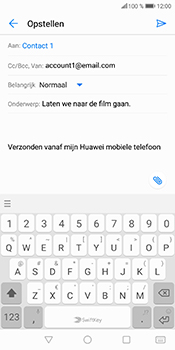 Huawei P Smart (Model FIG-LX1) - E-mail - Bericht met attachment versturen - Stap 10