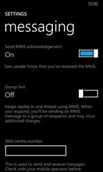 Nokia Lumia 630 - SMS - Manual configuration - Step 6