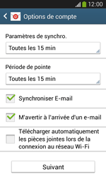 Samsung Galaxy Core Plus - E-mail - Configuration manuelle - Étape 17
