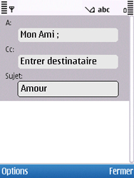 Nokia C5-00 - E-mail - Envoi d
