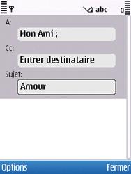 Nokia C5-00 - E-mail - envoyer un e-mail - Étape 6