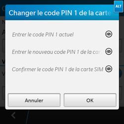 BlackBerry Q10 - Sécuriser votre mobile - Personnaliser le code PIN de votre carte SIM - Étape 9