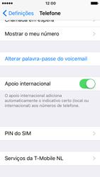 Apple iPhone 5s iOS 10 - Segurança - Como ativar o código PIN do cartão de telemóvel -  4