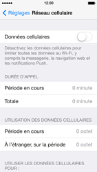 Apple iPhone 5 iOS 7 - Internet - activer ou désactiver - Étape 5