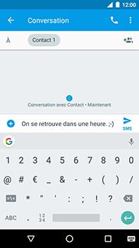 Motorola Moto E4 Plus - Contact, Appels, SMS/MMS - Envoyer un SMS - Étape 8
