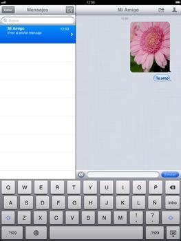 Apple iPad 2 - Mensajería - Escribir y enviar un mensaje multimedia - Paso 13
