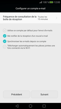 Huawei Mate S - E-mail - Configuration manuelle (outlook) - Étape 8