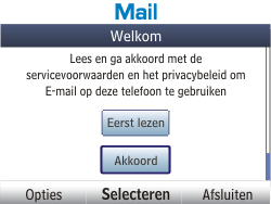 Nokia Asha 201 - E-mail - Handmatig instellen - Stap 4