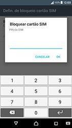 Sony Xperia XA (F3111) - Segurança - Como ativar o código PIN do cartão de telemóvel -  7