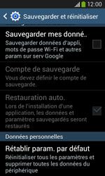 Samsung Galaxy Core Plus - Device maintenance - Retour aux réglages usine - Étape 7